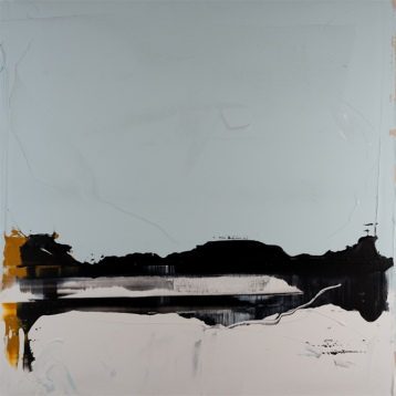 Horizon #20 Black and Yellow Ochre